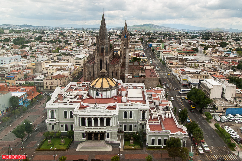 The church behind the Museo de las Artes de la Universidad de Guadalajara (The Museum of Arts of the University of Guadalajara)